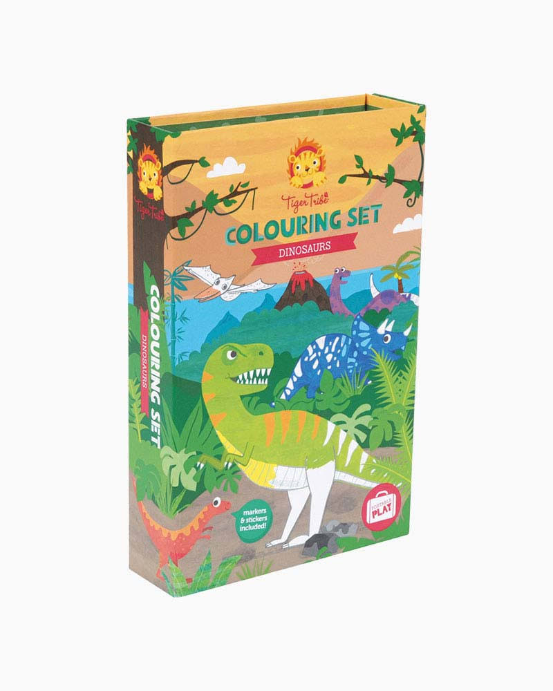 Tiger Tribe: Colouring Set - Dinosaur