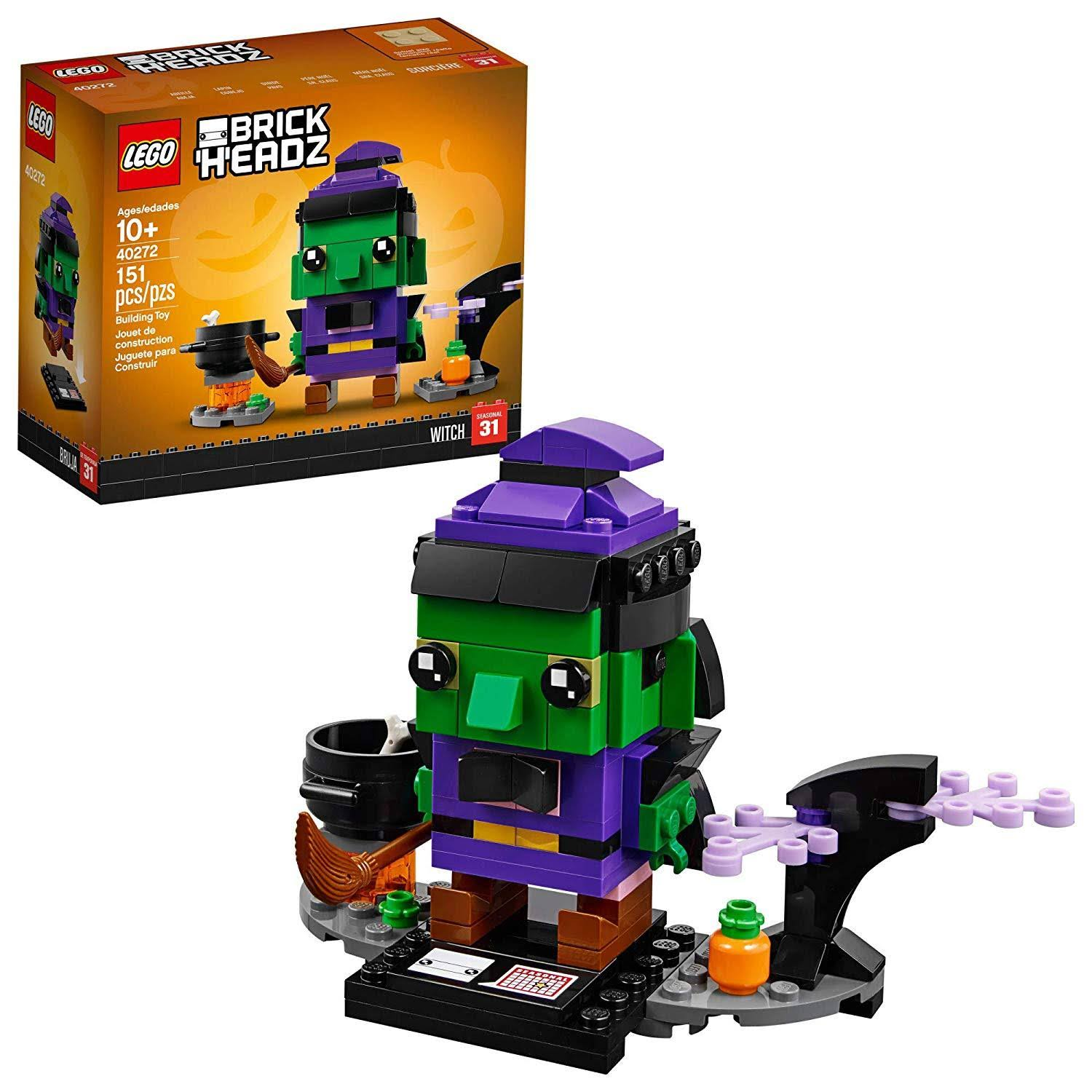 Lego Seasonal Brick Headz Witch Toys Set - 151pcs Set