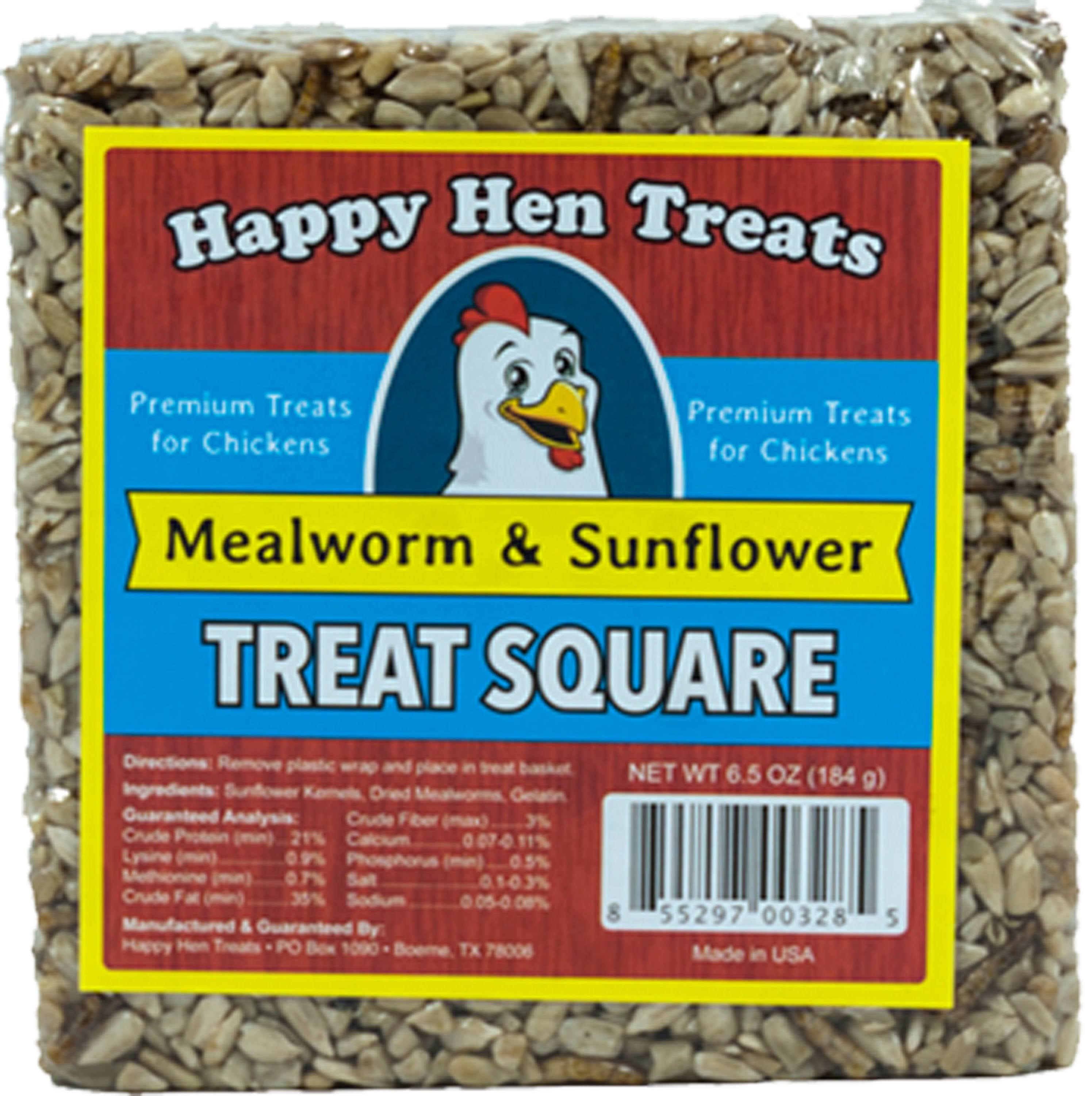 Happy Hen Treats Treat for Pets, Mealworm and Sunflower Treat Square