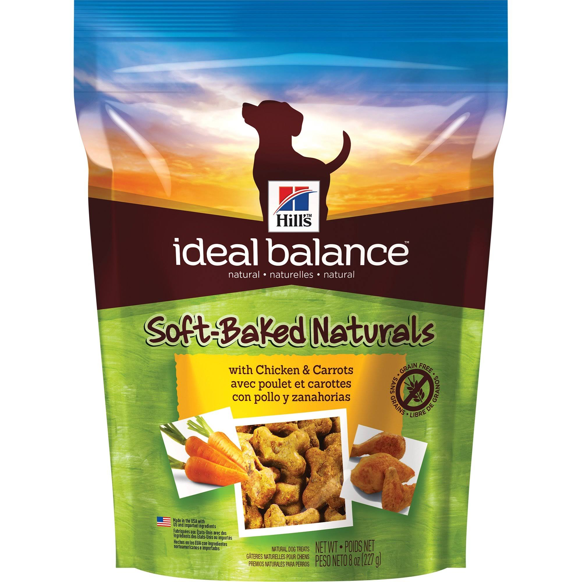 Hill's Ideal Balanced Soft-Baked Naturals with Chicken and Carrots Dog Treats - 8oz