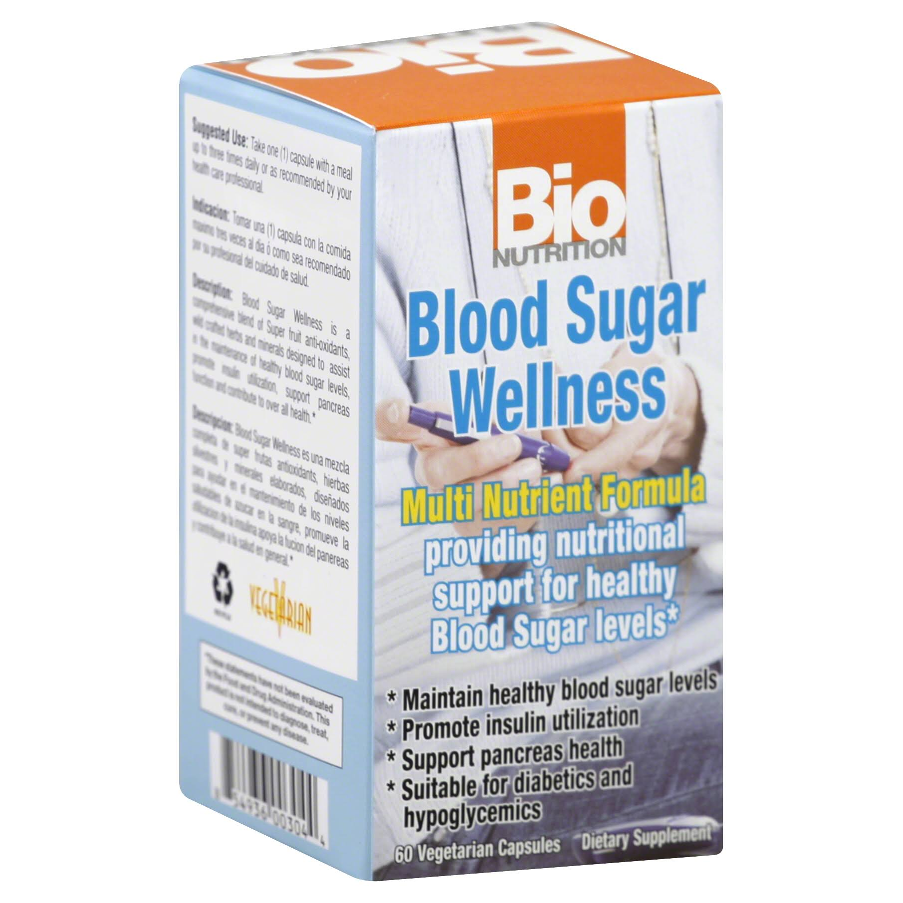 Bio Nutrition Blood Sugar Wellness Supplement - 60ct