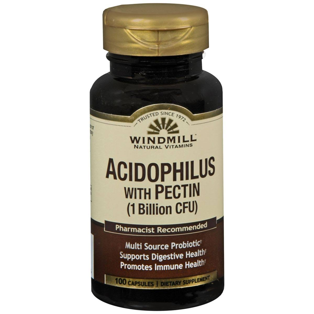 Windmill Acidophilus with Pectin (1 Billion CFU) 100 Caps