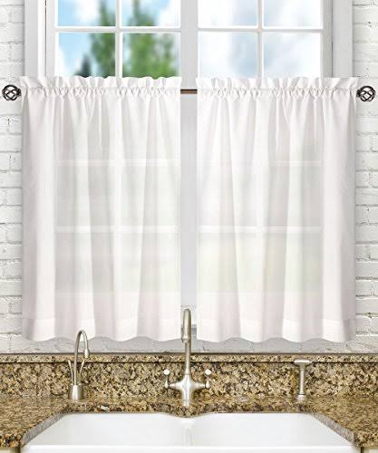 Ellis Curtain Stacey Solid Tier Curtains White
