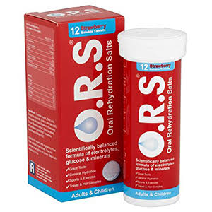 O.R.S Hydration Tablets - Adults and Children, 12 Strawberry Flavour Soluble Tablets