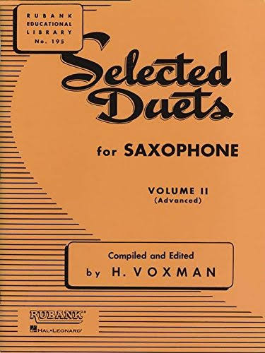 Selected Duets for Saxophone: Volume 2 Advanced - Rubank Educational Library