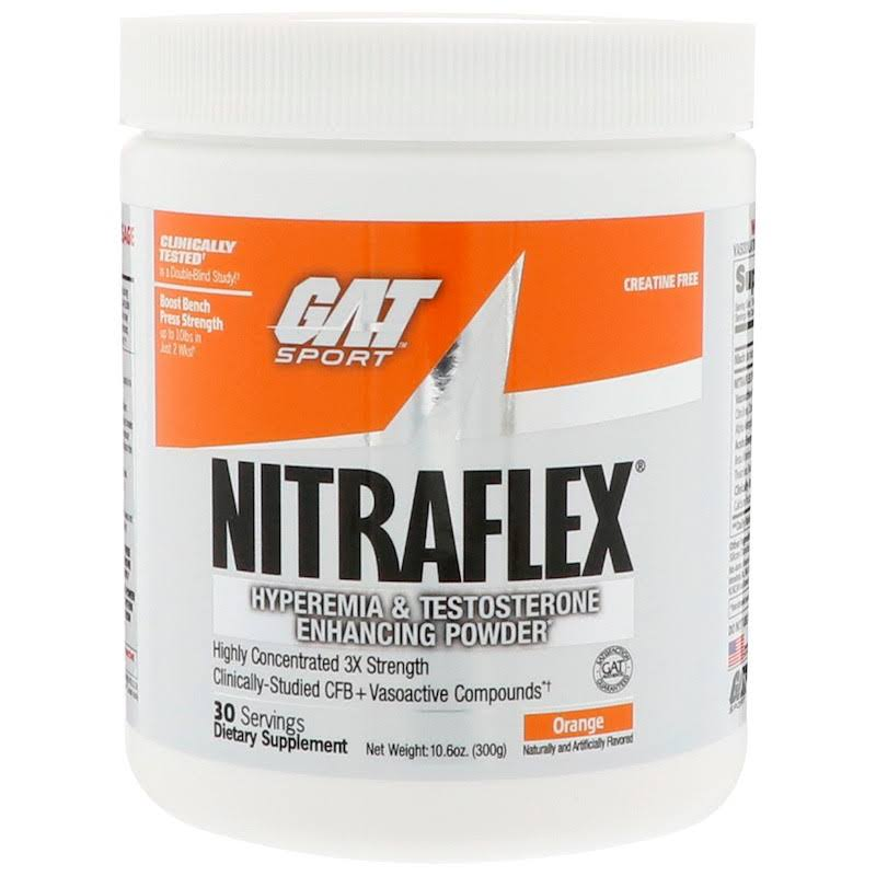 GAT Nitraflex Enhancing Powder - Orange, 30 servings