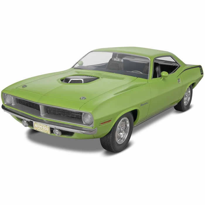 Revell 1970 Plymouth Hemi Cuda 2 in 1 Skill 3 Plastic Model Kit - 1/25 Scale