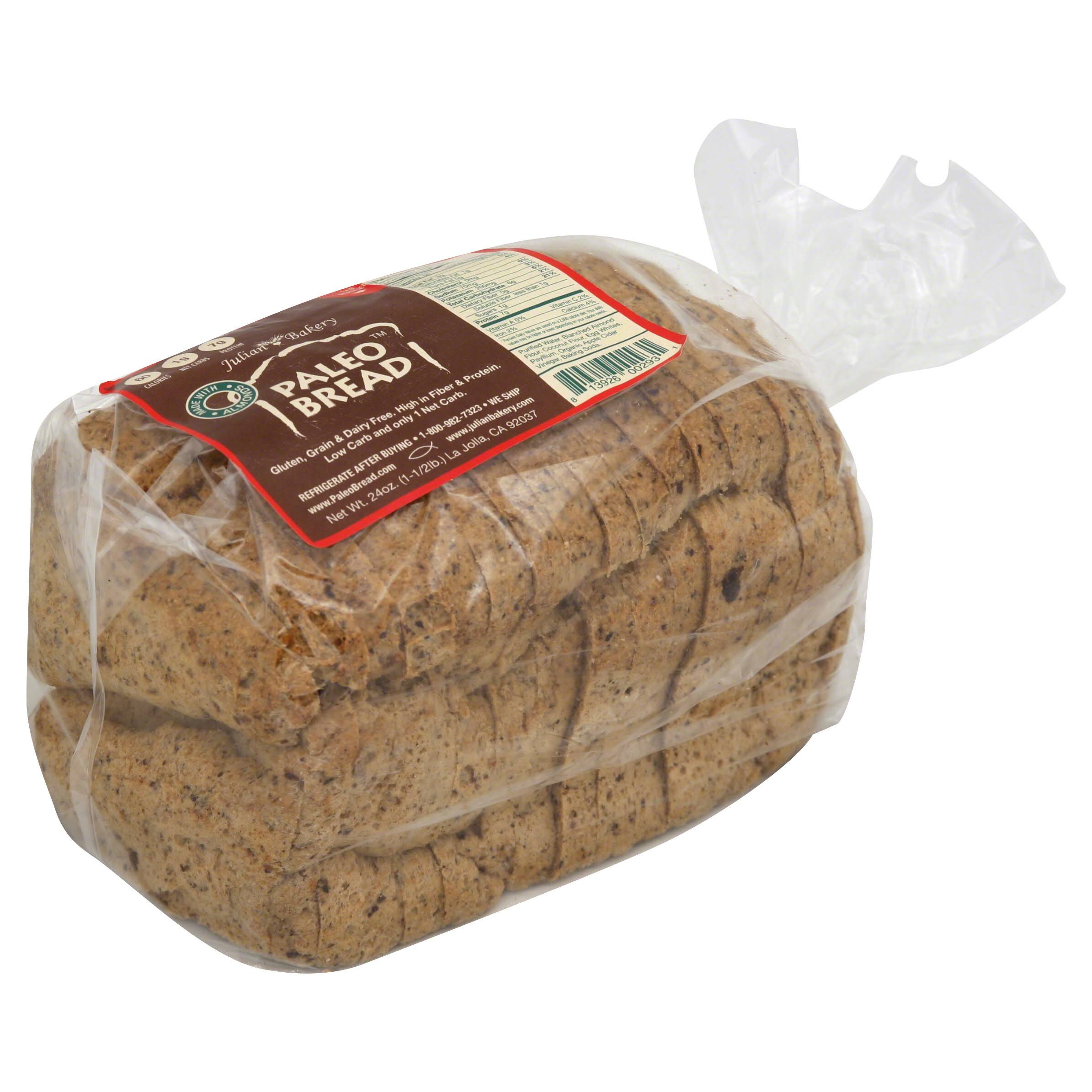 Julian Bakery Paleo Bread, Made with Almonds - 24 oz