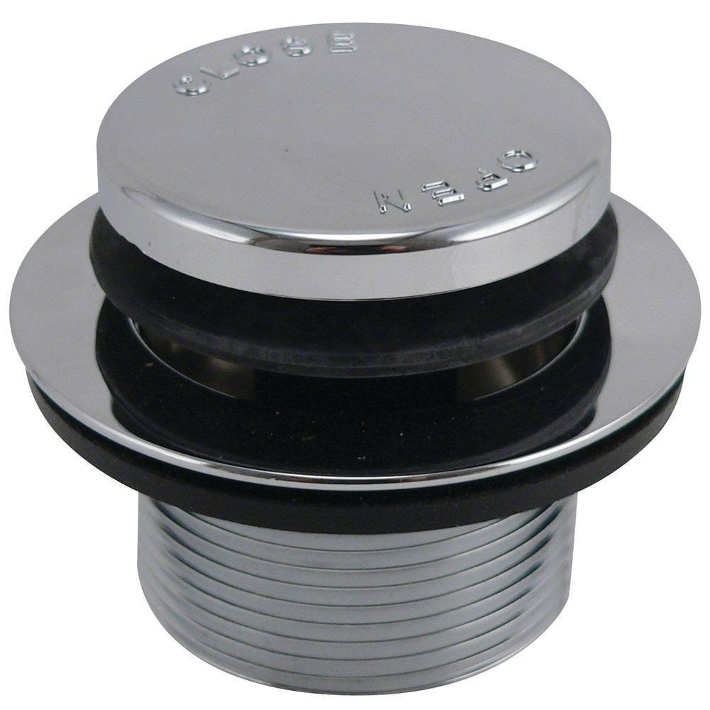 Plumb Pak Bath Drain Strainer - Push Button