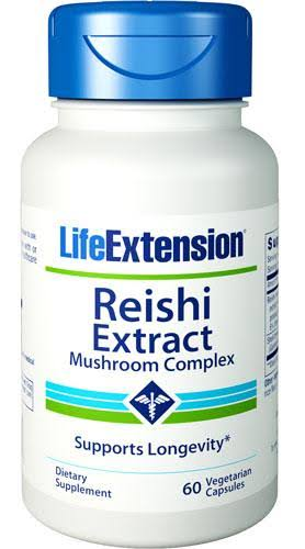 Life Extension Reishi Extract Mushroom Complex - 60 Vegetarian Capsules
