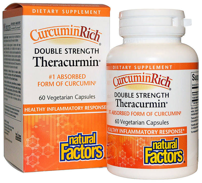 CurcuminRich Double Strength Theracurmin Supplement - 60 Count