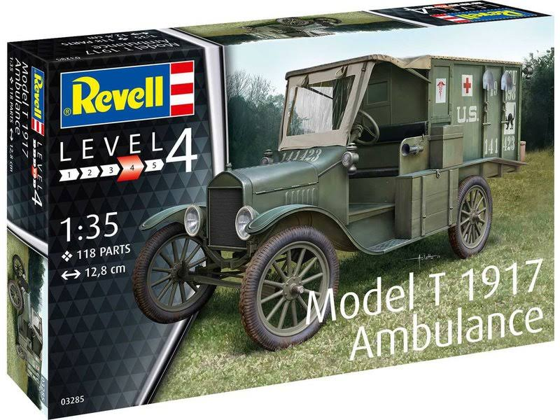 Revell 03285 Model T Ambulance 1917 1:35 Scale Kit
