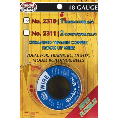Model Power 1 Conductor Wire Carded 18 (Gauge) 25' 2310