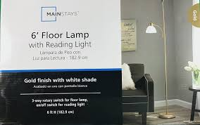 Mainstays Floor Lamp With Reading Light Assembly by Mainstays Gold Floor Lamp With Reading Light 72