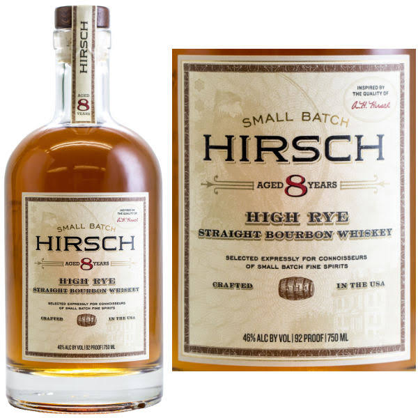 Hirsch 8 Year High Rye Bourbon