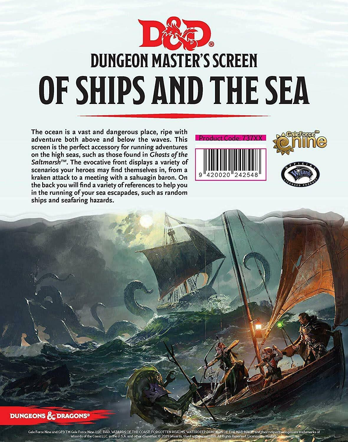 Dungeons & Dragons of Ships and The Sea DM Screen