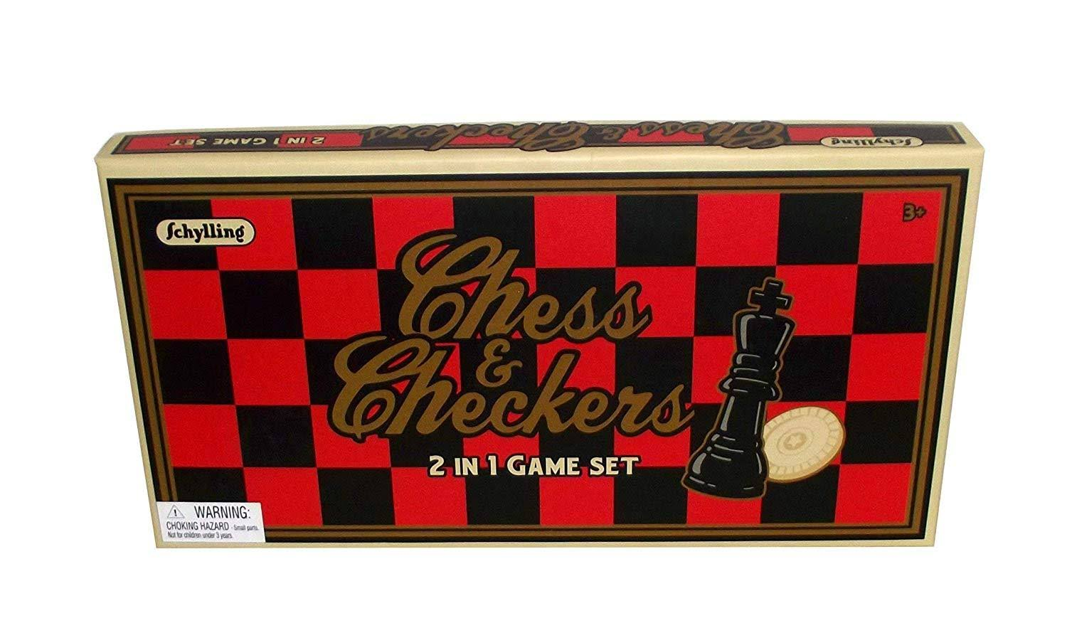 Schylling Chess & Checkers 2 in 1 Game Set