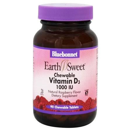 Bluebonnet Earth Sweet Vitamin D3 - 1000 IU, 90 Chewable Tablets
