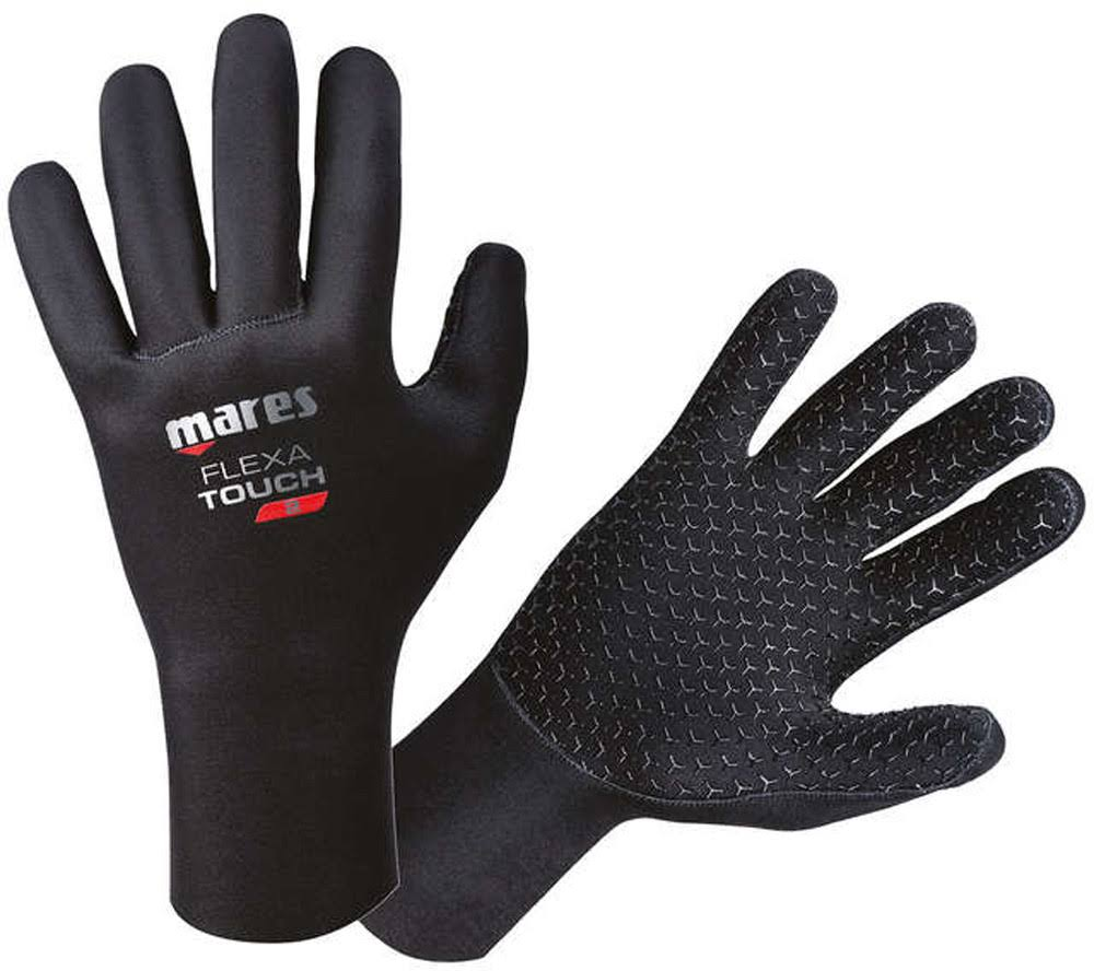 Mares Adult's Flexa Touch Dive Gloves - Black, X-Large/XX-Large, 2mm