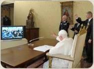 Папа Бенедикт XVI встретился с научным сообществом и общиной кармелитов из Папского богословского факультета