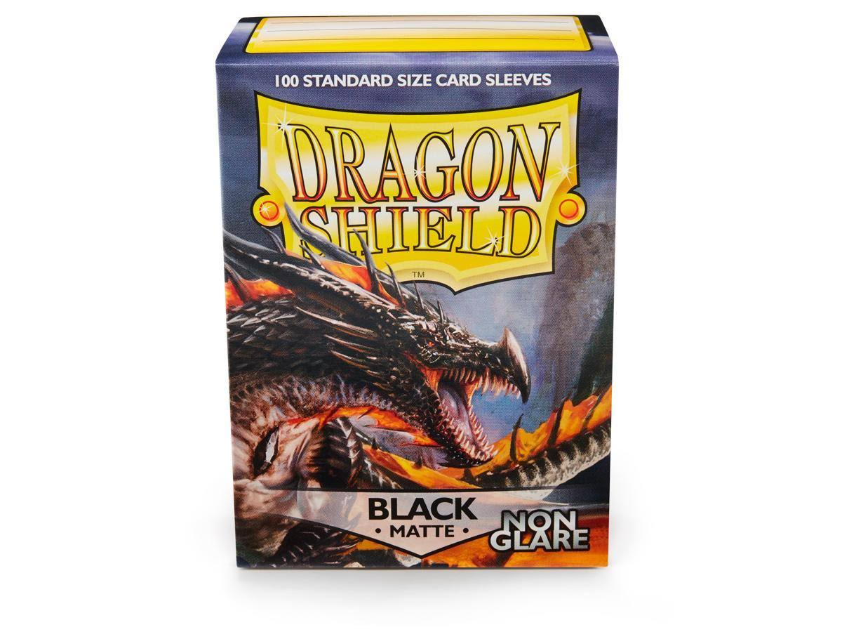 Dragon Shield Sleeves: Non-Glare Matte - Black (100)