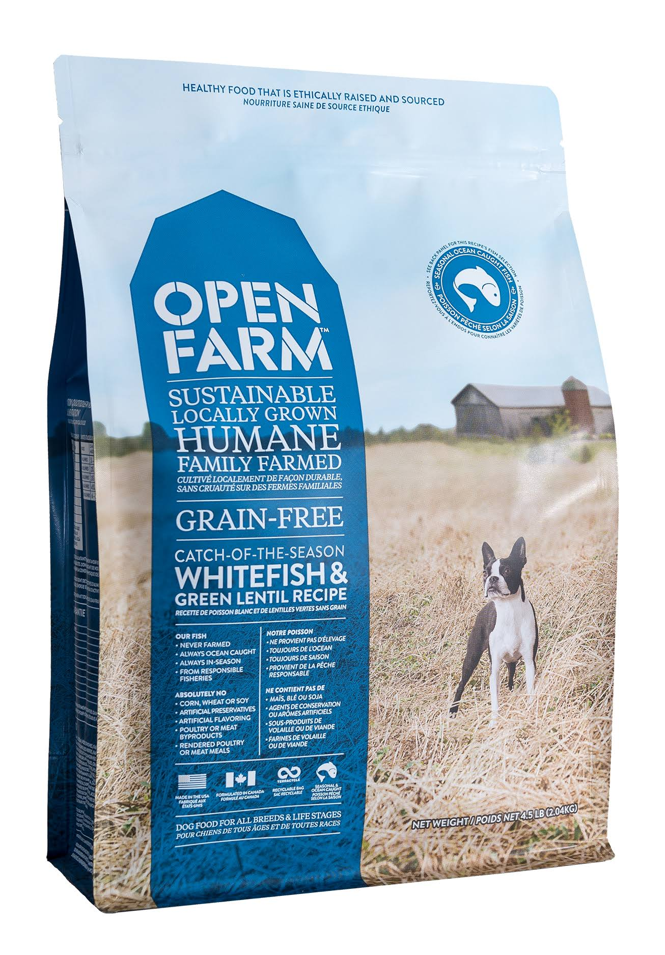Open Farm Grain-Free Catch of the Day Dog Food - Whitefish & Green Lentil, 2.05kg