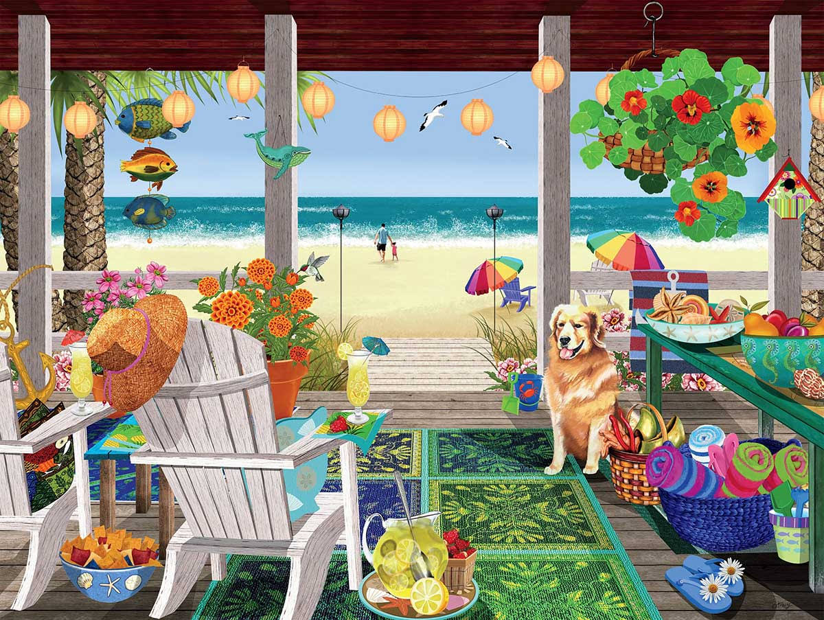Ceaco Beach House Tracy Flickinger Jigsaw Puzzle - 300pcs