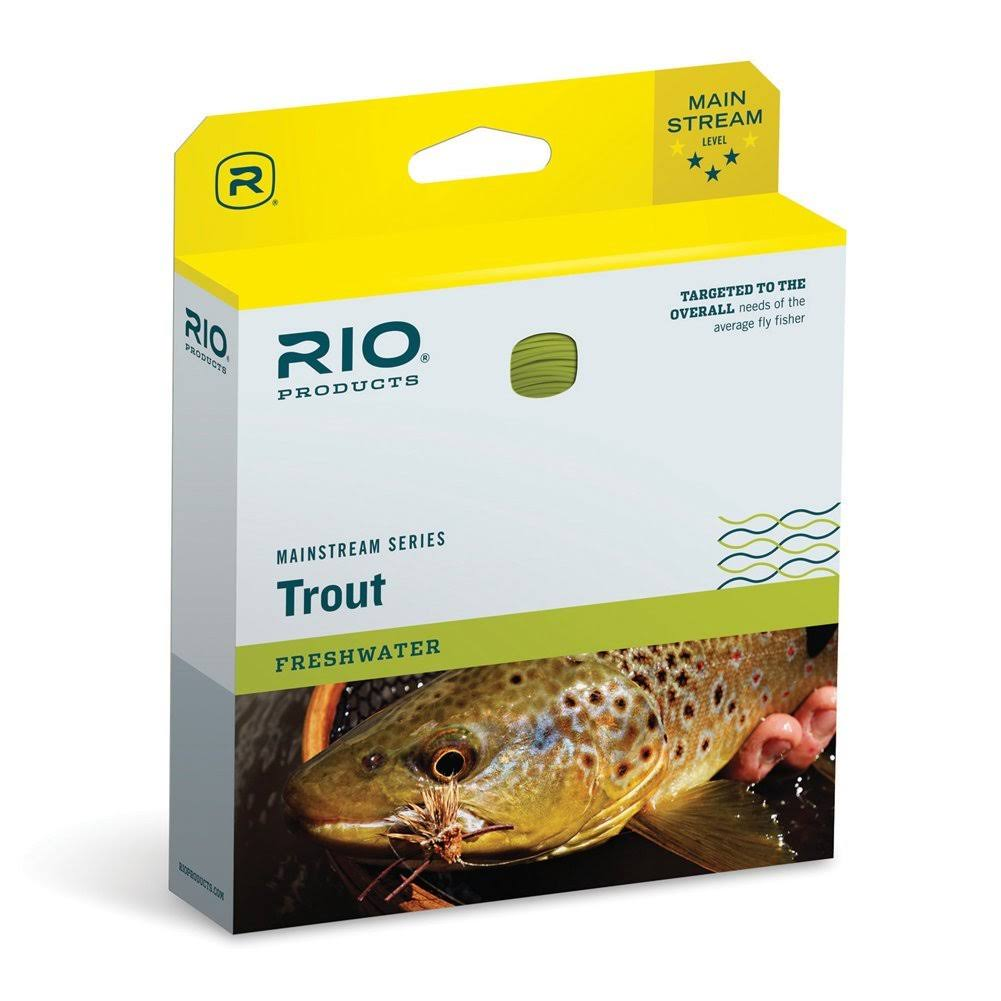 Rio Mainstream Trout Floating Fly Line - Lemon Green, Size WF8F