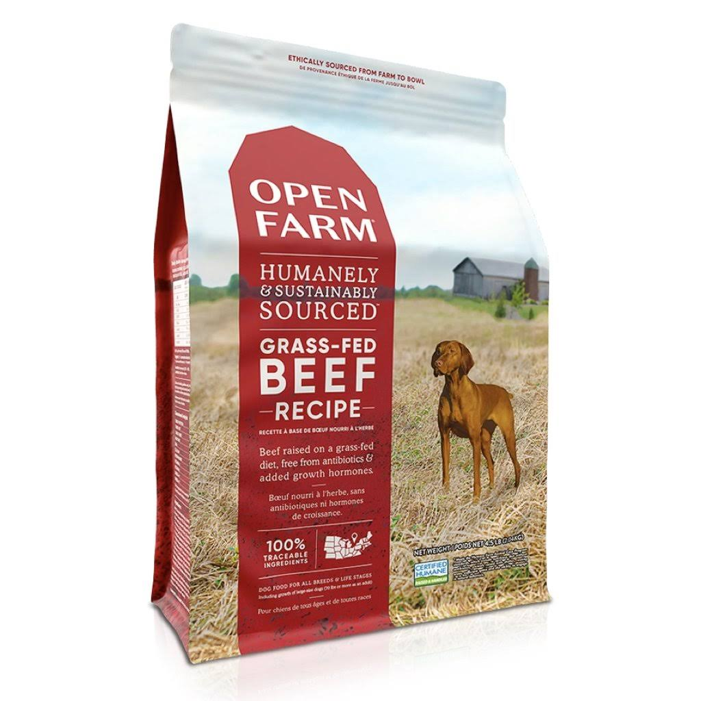 Open Farm Grass-Fed Beef Dry Dog Food 4.5-lb