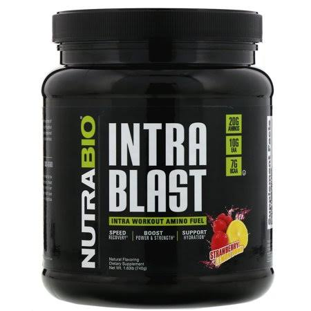 NutraBio Intra Blast Pre Workout, Strawberry Lemon Bomb