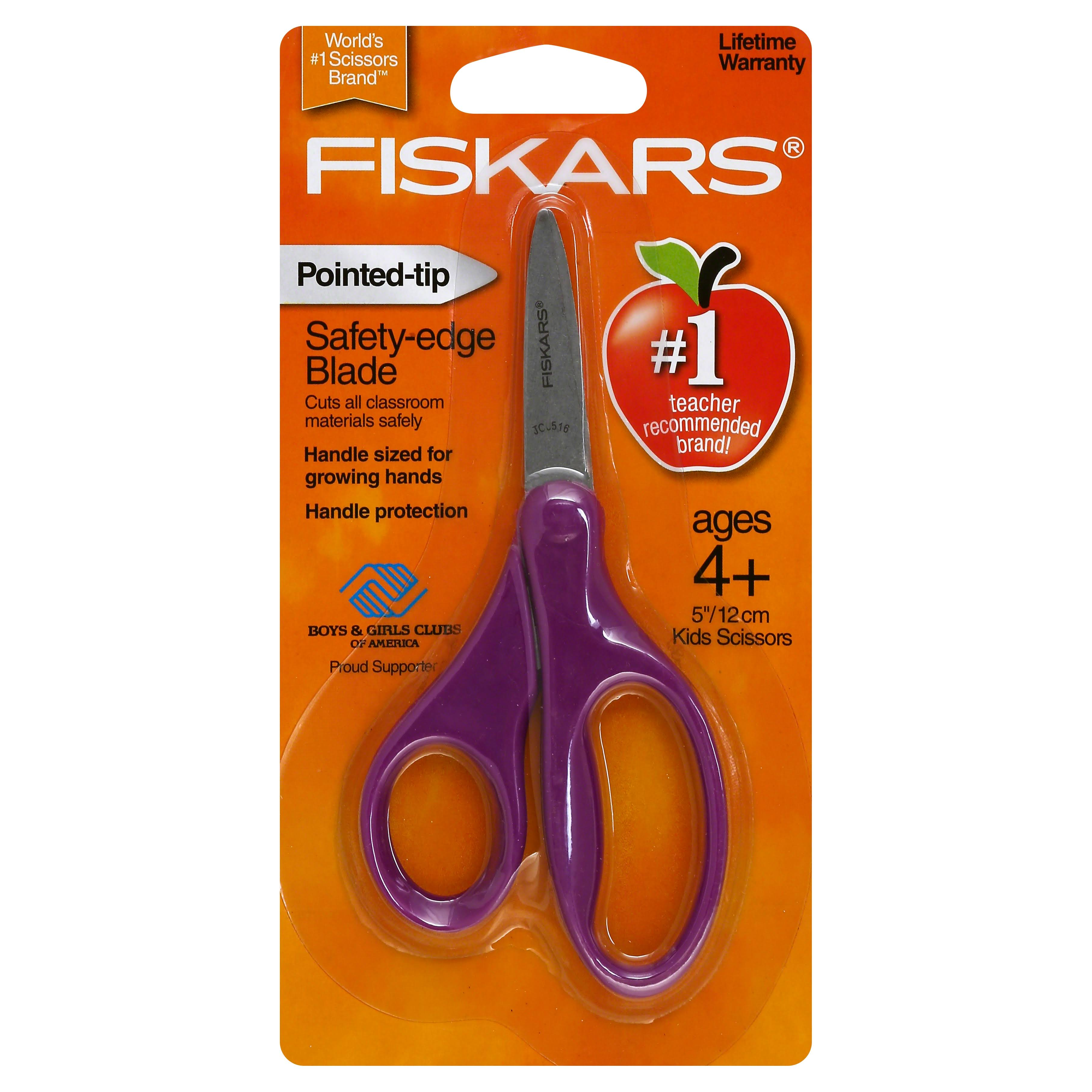 Fiskars Kids Classic Pointed Tip Scissors - 5in, Assorted Colors