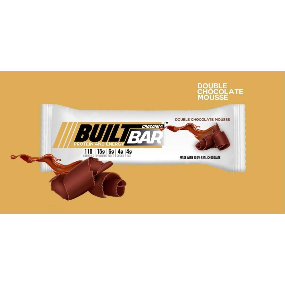 Built Bar Protein and Energy Bar - Double Chocolate Mousse, One Bar