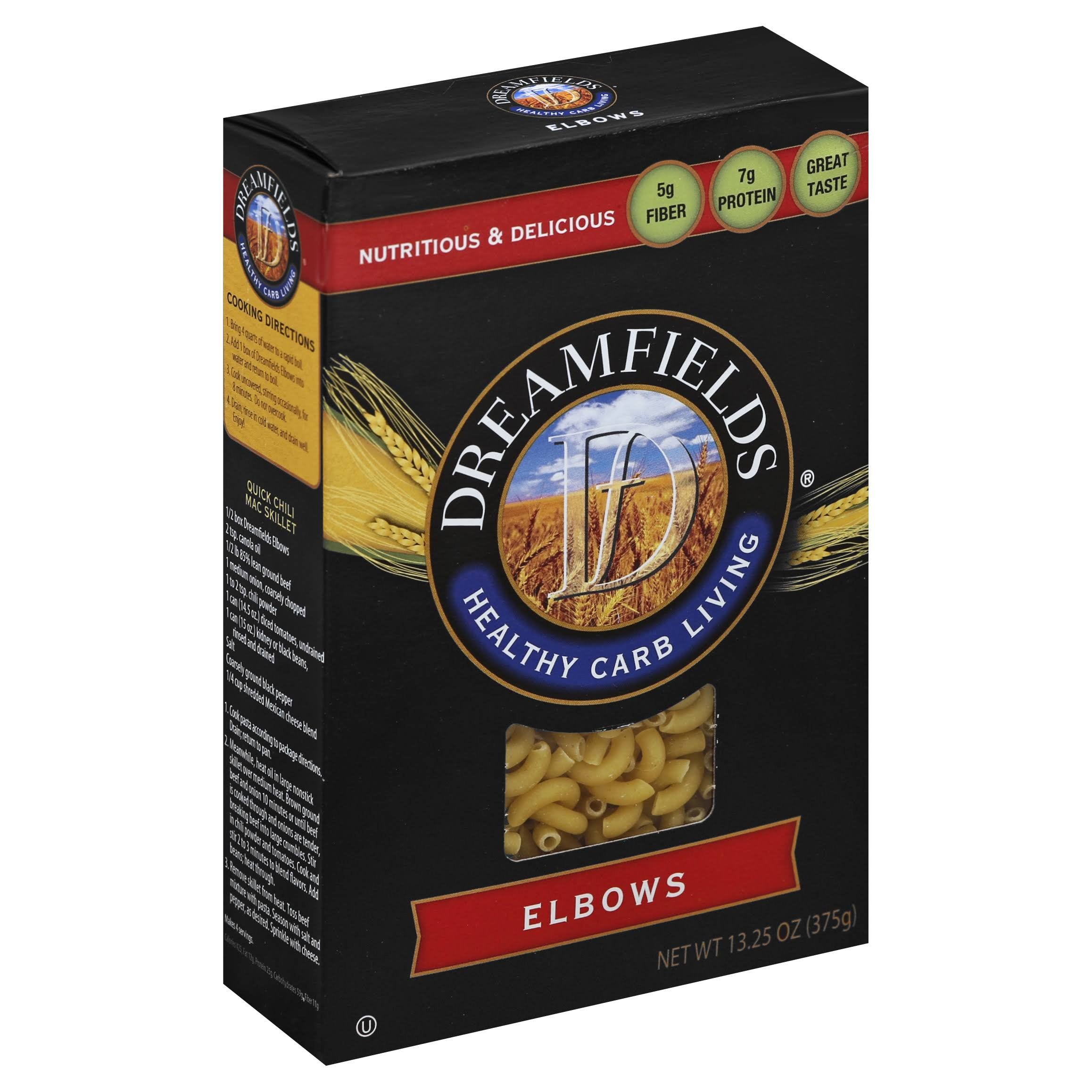 Dreamfields Pasta Healthy Carb Living - Elbow Macaroni, 13.25oz, Pack of 6