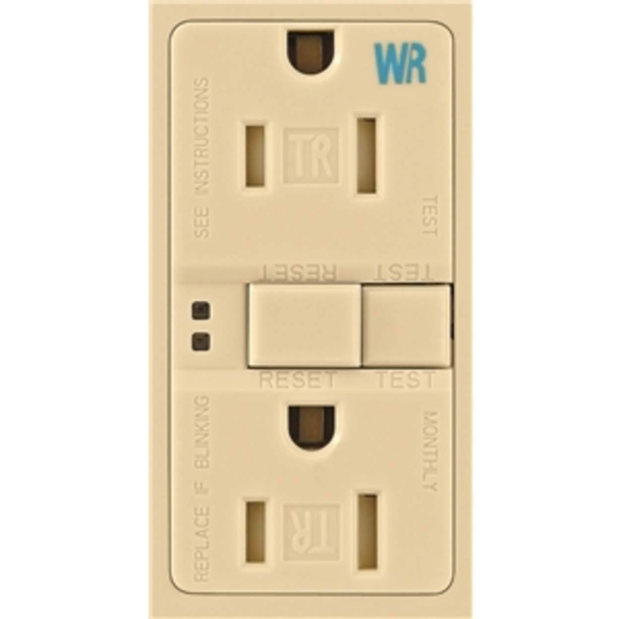 Cooper Wiring Tamper And Weather Resistant Duplex Receptacle - 15A, 125V, Ivory