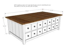 apothecary coffee table or toybox woodworking plans woods thippo