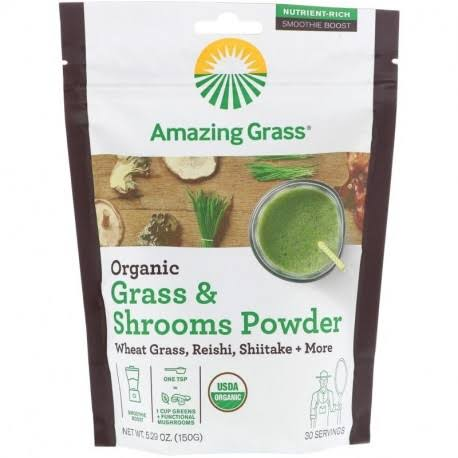 Amazing Grass Grass & Shrooms Powder, Organic - 5.29 oz