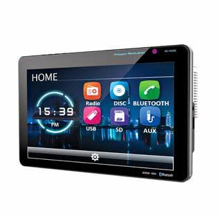 Power Acoustik Double Din Receiver - with Bluetooth, Touchscreen, 10""