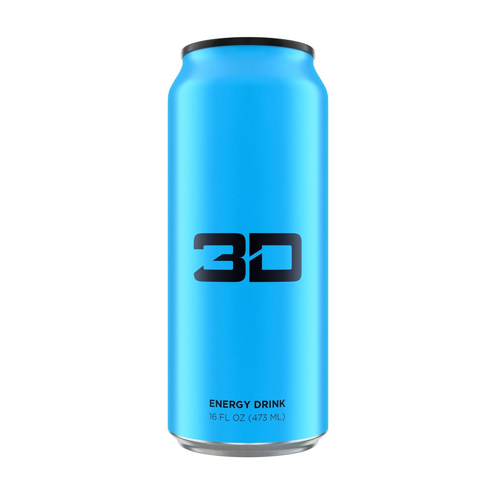 3D Energy Drink - Blue
