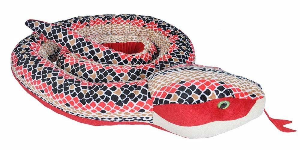 "Wild Republic Snakes Jumbo Soft Toy - 110"", Red Scales"
