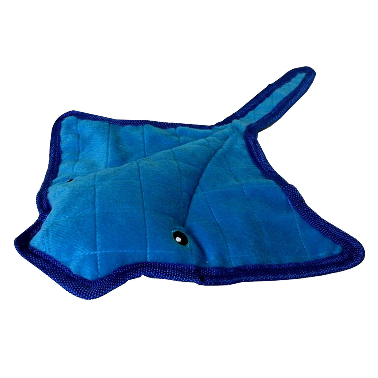 Pet Lou Bite Me Stingray Soft Durable Squeaker Floats Pet Interactive Dog Toy - 14""