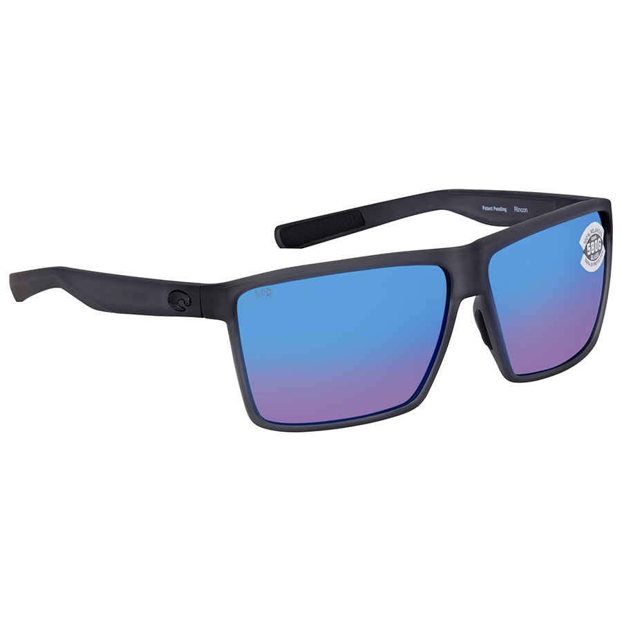 Costa Del Mar Rincon Sunglass - Smoke Crystal, Blue Mirror Lens