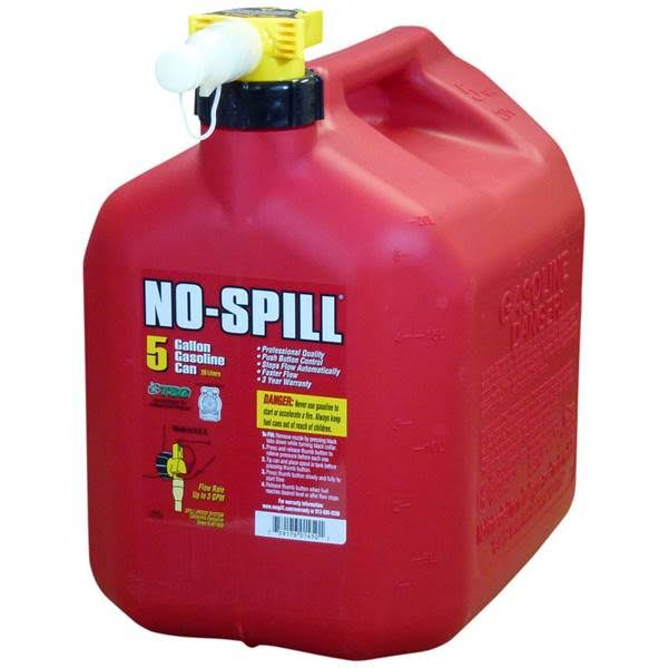 No Spill Gas Can - 5 gal