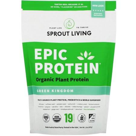 Sprout Living Epic Plant Based Protein Powder - Green Kingdom, 20g