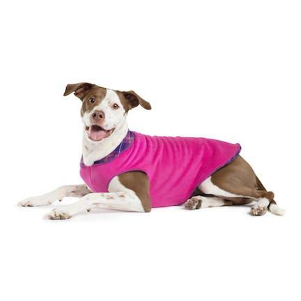 Gold Paw Duluth Double Fleece Pullover Mulberry plaid/fuchsia 14