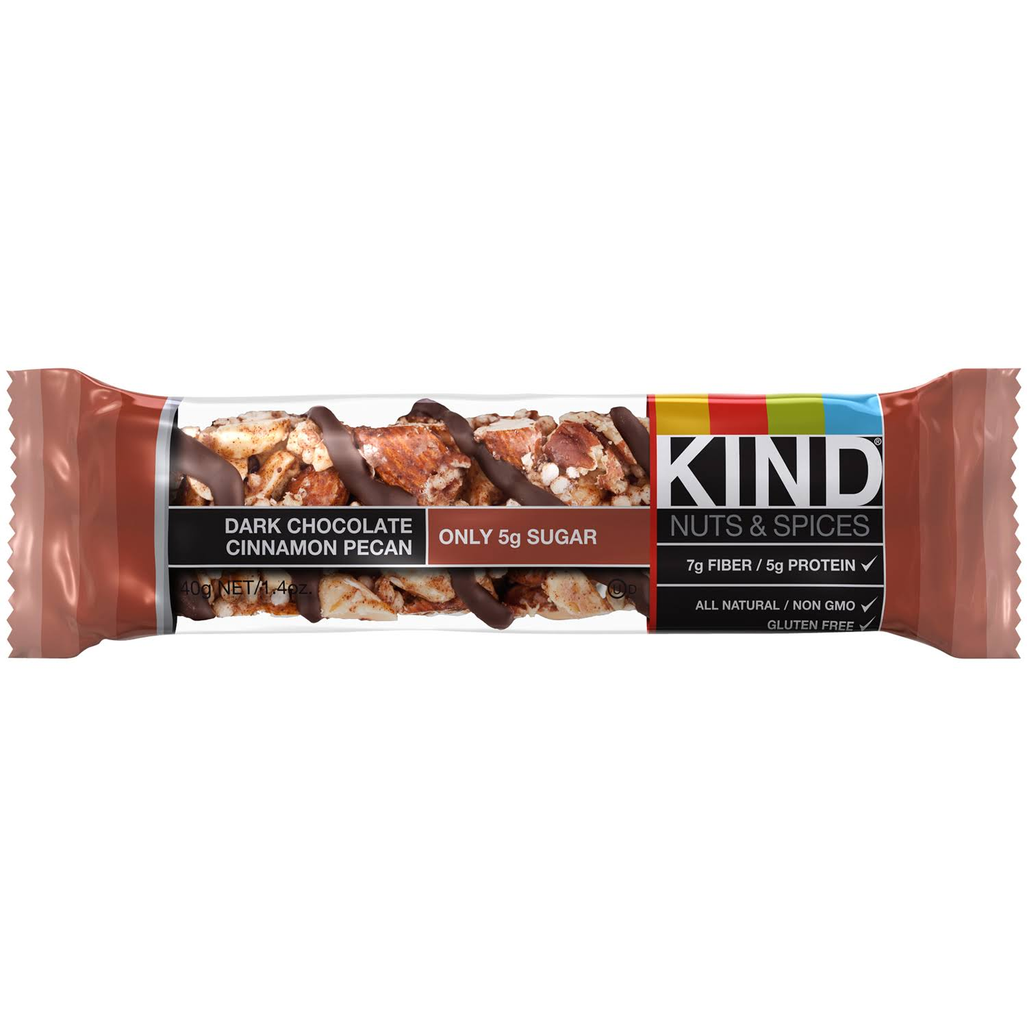 Kind Nuts & Spices Dark Chocolate Cinnamon Pecan Bar - 12 Pack