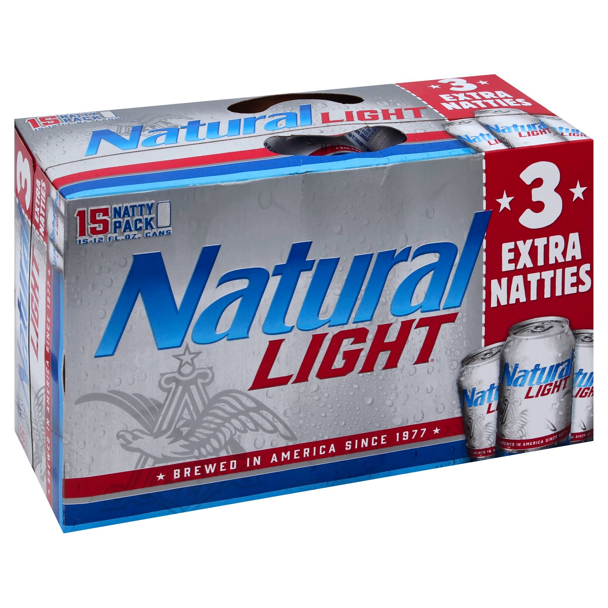 Natural Light Beer, Natty Pack - 15 pack, 12 fl oz cans