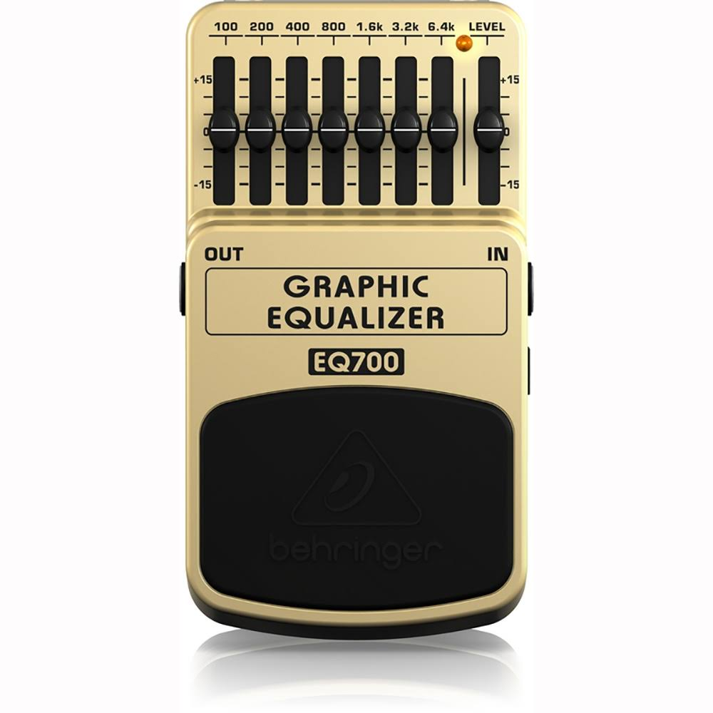 Behringer EQ700 7-Band Graphic EQ Equalizer Effect Guitar Pedal