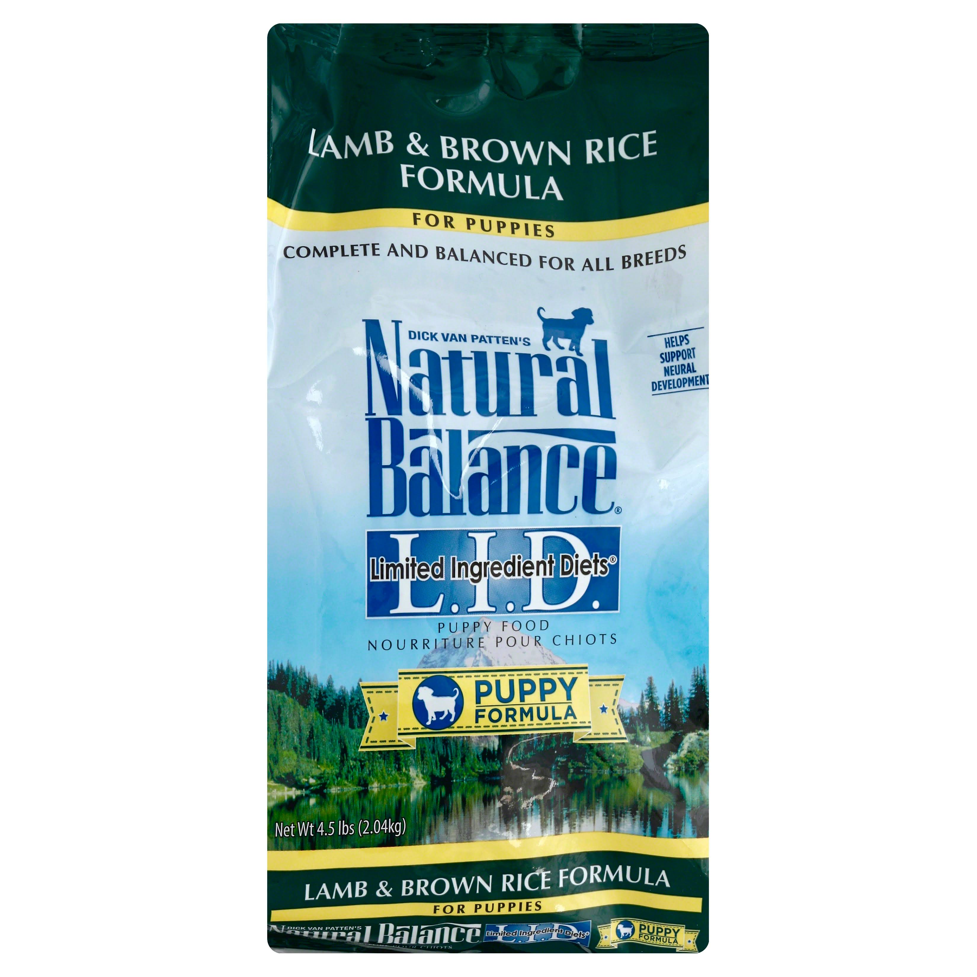 Natural Balance Limited Ingredient Diets Puppy Food - Lamb and Brown Rice Formula, 4.5lbs