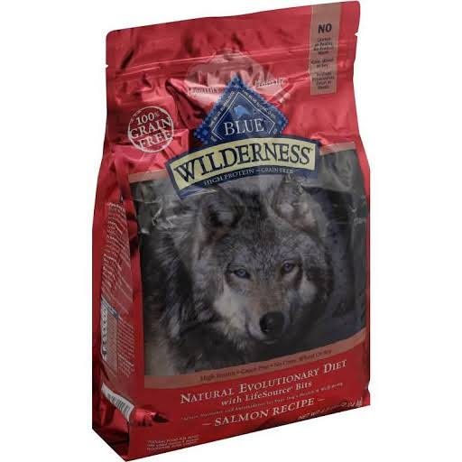 Blue Buffalo Wilderness Adult Dry Dog Food - Salmon Recipe, 4lb