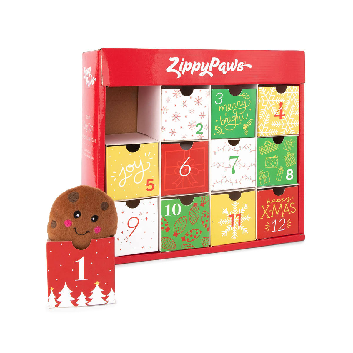 ZippyPaws Calendar Advent Calendar Dog Toy Set One-Size